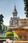 the orthodox cathedral of timisoara, romania - stock photo