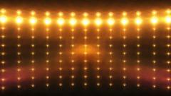 Wall of lights orange HD (loops).mp4 Stock Footage