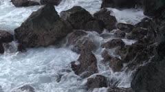 colossal waves crashing on beach - stock footage