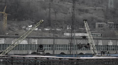 Coal industry logistics Stock Footage