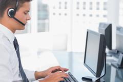 Stock Photo of Agent working in a call centre