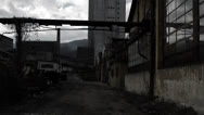 Abandoned factory inside Stock Footage