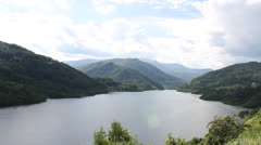 Lake between mountains Stock Footage