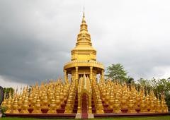 Top five hundred pagodas in temple, thailand Stock Photos