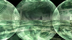 Dollar Bill Motion Mapping Stock Footage