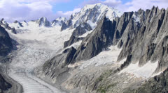 Mont blanc and mer de glace Stock Footage