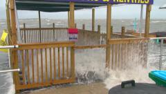 Hurricane approaches Stock Footage
