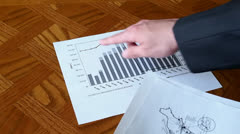 Business Plan Describing Graphs and Charts Stock Footage