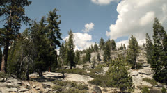 Rocky landscape with blue sky at Yosemite National Park Stock Footage