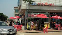 People Outside Shop in Gyeonggi-do, South Korea HD Stock Footage