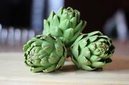 Stock Photo of Raw Artichokes