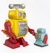robot friends - stock photo