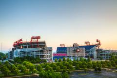 Lp field in nashville, tn in the morning Stock Photos