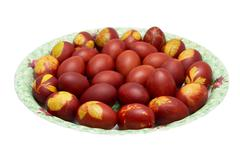 Stock Photo of colored eggs on orthodox easter