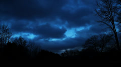 Dramatic Stormy Sky (Time-Lapse) Stock Footage