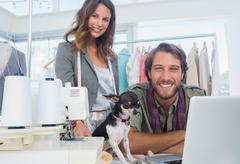Stock Photo of Fashion designers and chihuahua