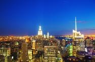Stock Photo of new york city cityscape in the night