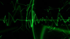 Green Pulse Motion Mapping Stock Footage