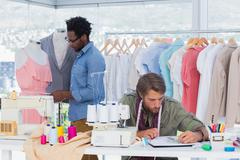 Team of fashion designers - stock photo