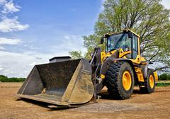 Stock Photo of Yellow bulldozer