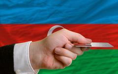Buying with credit card in azerbaijan Stock Photos