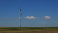 Stock Video Footage of Wind Turbines in Agriculture Field, Windmill on Cultivated Land, Timelapse