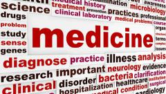 Medicine word clouds design Stock Footage