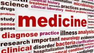 Stock Video Footage of Medicine word clouds design