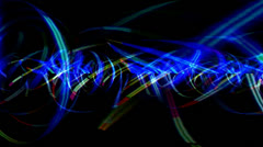 Neon Light Motion Mapping Stock Footage