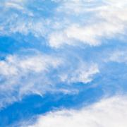 cloudscape with stratus clouds - stock photo
