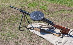 Old russian machine gun Stock Photos