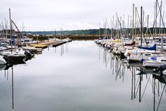 Yacht mooring in perros-guirec, brittany, Stock Photos
