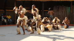 Folk dances of Botswana and South Africa. Stock Footage
