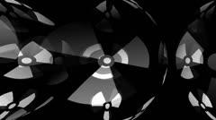 Radioactivity Symbol Motion Mapping Stock Footage