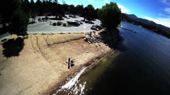Big Bear Lake Aerial shots Stock Footage