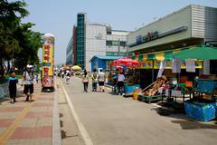 Market in Gyeonggi-do, South Korea - stock photo