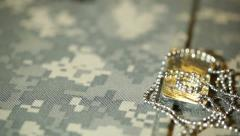 Dogtag dog tag military Stock Footage