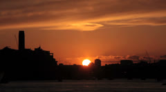 London sunset timelapse. London skyline and Thames River. Time lapse. London 2 Stock Footage