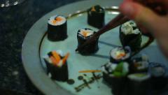 Homemade home made sushi Stock Footage