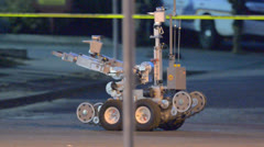 Bomb Squad Robot 3 - stock footage