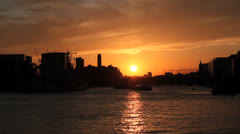London sunset timelapse. London skyline and Thames River. Time lapse. London 1 Stock Footage