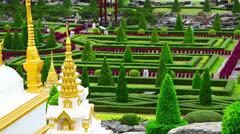 Nong Nooch tropical garden in Thailand Stock Footage
