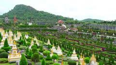 Nong Nooch tropical garden and mountain in Thailand Stock Footage