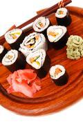 maki sushi rolls - stock photo