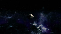 Asteroid flies toward Earth - stock footage