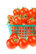 raw tomato cherry - stock photo