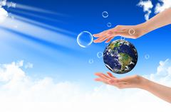 protect the earth concept - stock photo