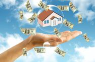 Money  and house in hand Stock Illustration