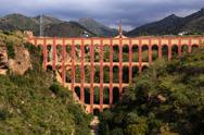 Stock Photo of aqueduct named el puente del aguila in nerja,andalusia, spain