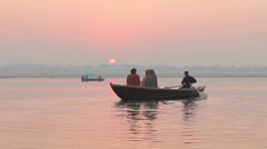 Morning in Varanasi, India Stock Footage